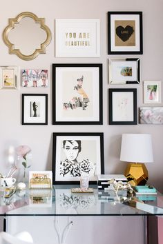 Livable and unique office space: http://www.stylemepretty.com/living/2016/08/15/balancing-a-modern-office-space-with-the-perfect-touch-of-pink/ Photography: Table4 Weddings - http://www.table4weddings.com/