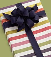 Muted Stripe Gift Wrap -- Container Store