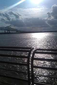 A view of the Mississippi River Bridge from the USS Kidd in Baton Rouge, LA taken at 5pm 03/17/2012