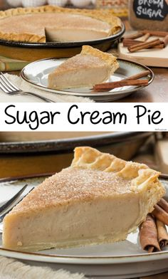 Our copycat version of Indiana's official state pie, the Sugar Cream Pie, has got all the classic flavor you love! Our copycat version of Indiana's official state pie, the Sugar Cream Pie, has got all the classic flavor you love! Raspberry Cream Pies, Blueberry Cream Pies, Sugar Cream Pie Recipe, Cream Pie Recipes, Sugar Free Desserts, Fun Desserts, Delicious Desserts, Homemade Banana Cream Pie, Boston Cream Pie