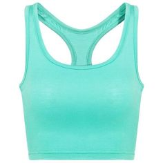 Yoins Mint  Crop Top With Scoop Neckline (34 BRL) ❤ liked on Polyvore featuring tops, shirts, crop tops, tank tops, green, green top, mint green top, mint crop top, mint shirts and mint green crop top