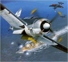 Curtiss SB2C Helldiver sinking IJN Yamato, 7-4-1945, by Arkadiusz Wrobel