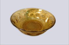 Amber Glass Bowl by OSGVintage on Etsy
