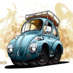 Classic Car News Pics And Videos From Around The World Rat Fink, Vw T1, Volkswagen Bus, Ferdinand Porsche, Beetle Drawing, Cool Bugs, Car Illustration, Vw Cars, Cars Motorcycles
