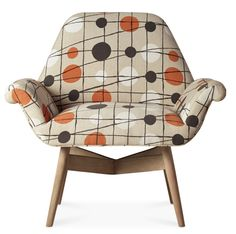 Mini Moderns Ltd edition Pavilion fabric chair in collaboration with Swoon Editions from Kate Young Design blog