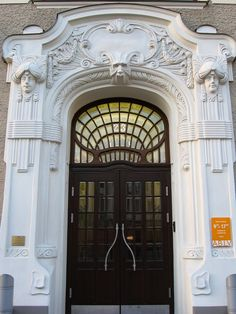 Jugendstil (Art Nouveau) building in Riga, Latvia. (Elizabetes 23)