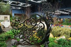 NW Flower and Garden Show 2010 garden gate. This years garden was designed by Susan Browne and Pam Richards. The landscaper was James Spra...