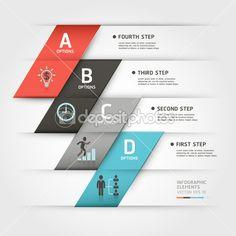 entreprise moderne steb origami style options bannière. vecteur illust — Illustration #29420909