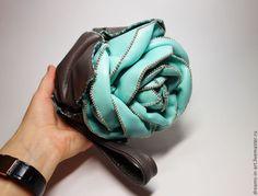 Кожаная сумочка-роза mini (вариант авто-леди или барсетка) - арт-сумка