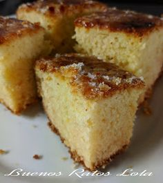Bica gallega. Horno y olla GM G | BUENOS RATOS LOLA Baking Recipes, Cake Recipes, Dessert Recipes, Sweets Cake, Cupcake Cakes, Mexican Food Recipes, Sweet Recipes, No Sugar Foods, Sweet And Salty