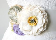 Florales de la boda vestido faja cinturón por rosyposydesigns