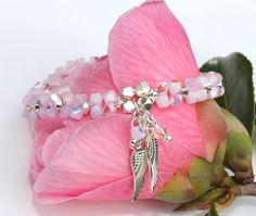 Angel Wing Swarovski Crystal Hand Woven Stretch by RocksCollection
