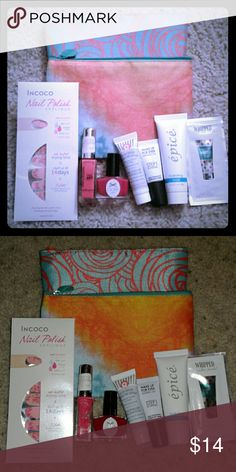 Make up bundle Contains 2 new ipsy bags, nail appliques, 2 polishes, repair serum, skin equalizer, hydrating mask and pure romance lubricant sample Other