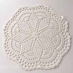 Round crochet doily easter table decoration white lace doily center piece by fancyloops ready to – Artofit Crochet Diagram, Filet Crochet, Crochet Motif, Lace Doilies, Crochet Doilies, Crochet Lace, Crochet Flower Patterns, Crochet Flowers, Crochet Stone