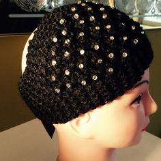 Crochet headband/ear warmer headband/ear warmer,  ...soft, stretchy fit with sparkling studs✅✅✅➕✅✅✅  Thank you.   Lida Collection Accessories