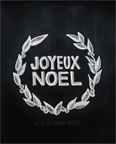 joyeux noel chalkboard print fichier numrique 8 x 10 nol imprimable
