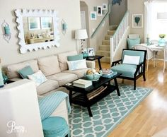12 Small Coastal Beach Theme Living Room Ideas with Great Style: