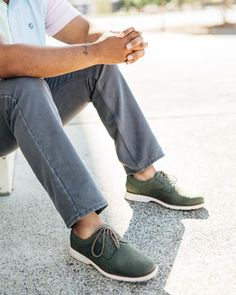 Make a (style) statement in green perfed wingtips. Rockport Total Motion, Wingtip Shoes, Your Style, Mens Fashion, Boots, Sneakers, Green, Casual, House