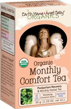 """Earth Mama Angel Baby Organic Monthly comfort tea: perfct for postpartum or """"the time of the month"""". I never go through a postpartum time without it!     I am an affiliate because I USE and LOVE these products! Buy from my banner on my homepage: www.mamamatters.com"""