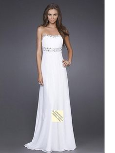 2011 Style Empire Strapless Sleeveless Floor-length Chiffon  Bridesmaid / Evening Dresses / Prom Dresses