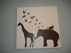 put vinyl decal on canvas instead of on the wall - can reuse it/move it