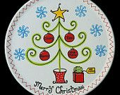 Painted Christmas Plates - Personalized Hand Painted Merry Christmas Ceramic Plate By Painting A Christmas Plate Personalised Pottery Hand Painted Christmas Family Plate Persona. Christmas Plates, Christmas Fun, Christmas Decorations, Christmas Ornaments, Christmas Cookies, Santa Plates, Sharpie Projects, Sharpie Crafts, Pottery Painting