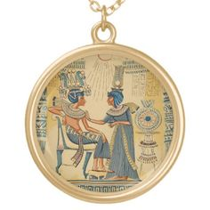 Vintage Antique Ancient Egyptian Royalty Necklace