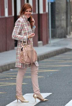 So sweet!   #fashion #style #outfit  #look, Zara en Abrigos, Miu Miu en Bolsos, Zara en Pantalones, Zara en Tacones / Plataformas