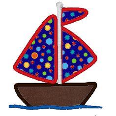 Sail Boat Applique File. $2.00, via Etsy.