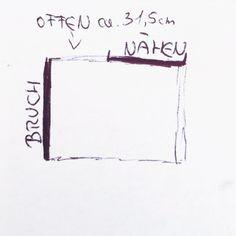 poncho diy grinsestern Tutorial nähanleitung skizze