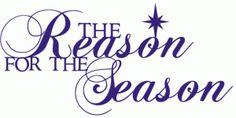 Silhouette Design Store - View Design #71045: reason for the season phrase / title