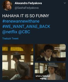Anne with an E memee Best Tv Shows, Best Shows Ever, Movies And Tv Shows, Gilbert And Anne, Gilbert Blythe, Anne With An E, Anne Shirley, Kindred Spirits, Book Show