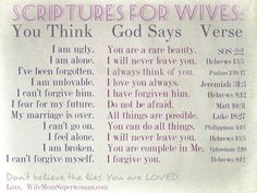 Scriptures that Speak Life to Wives