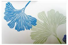 We were excited to see these wispy leaves in Springtime hues pop up on our Instagram feed. Alison from Red Tree Creations painted our Chinese Ginkgo Stencil pattern in a Client's sunroom.  Buy the stencil: http://www.cuttingedgestencils.com/ginkgo-stencil-kim-myles.html