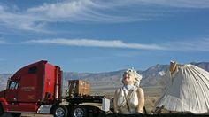 Marilyn on her way thru the desert to Palm Springs