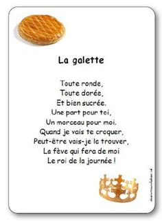 Comptine La galette toute ronde toute dorée French Poems, French Images, French Patisserie, French Education, Paleo Bread, Petite Section, French Lessons, Teaching French, French Food