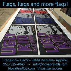 Flags come in many shapes and sizes, and can be single or double sided! #‎sublimation‬ ‪#‎printing‬ ‪#‎apparel‬ ‪#‎exhibition‬ ‪#‎fabric‬ ‪#‎branding‬ ‪#‎NPDS‬