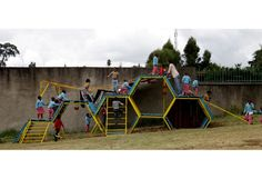 "I never tire of the work of Spanish collective Basurama, whose practice ""revolves around the reflection of trash, waste and reuse in all its formats and possible meanings"". In addition to the public space installations previously featured here at Playscapes (see Ghost Train Park, the Park for Playing and Thinking, and Equipamentos Extraordinarios), they have also constructed - Read the rest..."