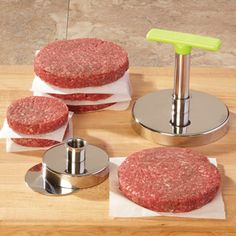 Burger Stomper Hamburger Press. Want one!