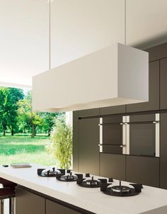 Wildhagen | Trend: Koken op gas met Pitt Cooking onder een lamp-afzuigkap van Wave. www.wildhagen.nl #designkeuken