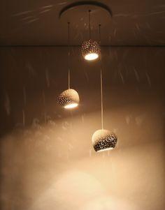 Claylight Cluster Three Pendant Chandelier Lighting by lightexture, $777.00