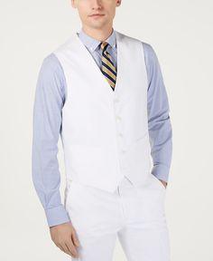 Tommy Hilfiger Men White Fit 5 Button Dress Suit Vest Waistcoat S for sale online Dresses With Leggings, Leggings Are Not Pants, White Suits, Men Formal, Tuxedo For Men, Suit Vest, Plus Size Activewear, Dress Suits, Chambray