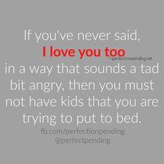 Lol true! I always feel horrible when it happens but geez go to sleep already!