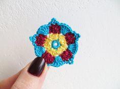 Ideas For Crochet Mandala Flower Etsy Crochet Patterns Free Women, Crochet Jewelry Patterns, Crochet Hat Earflap, Crochet Hats, Crochet Christmas Stocking Pattern, Flower Mandala, Crochet Flowers, Lana, Etsy