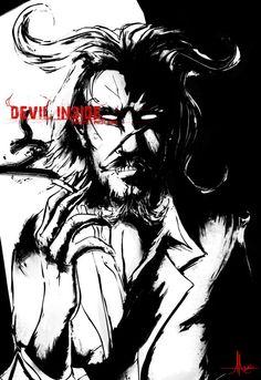 LegenD Danny Art Work - DeviL Inside Black & White ..
