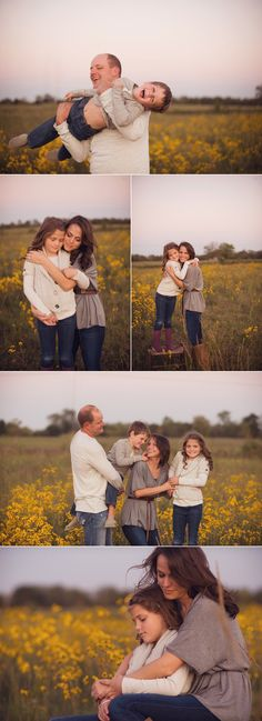 Love the neutral outfits-coordinated family portraits