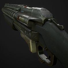 Evolve - Burst Shotgun, Michael Brainard on ArtStation at https://www.artstation.com/artwork/evolve-burst-shotgun