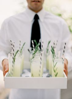 Waiters serving summer cocktails will be a must for our #garden #party. We are fond of Anchor #glassware ourselves.