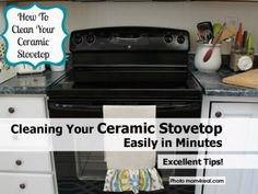 how to clean your ceramic stovetop  easily in minutes