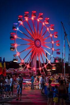 Ferris Wheel, Fair Grounds, Night, Travel, Viajes, Destinations, Traveling, Trips